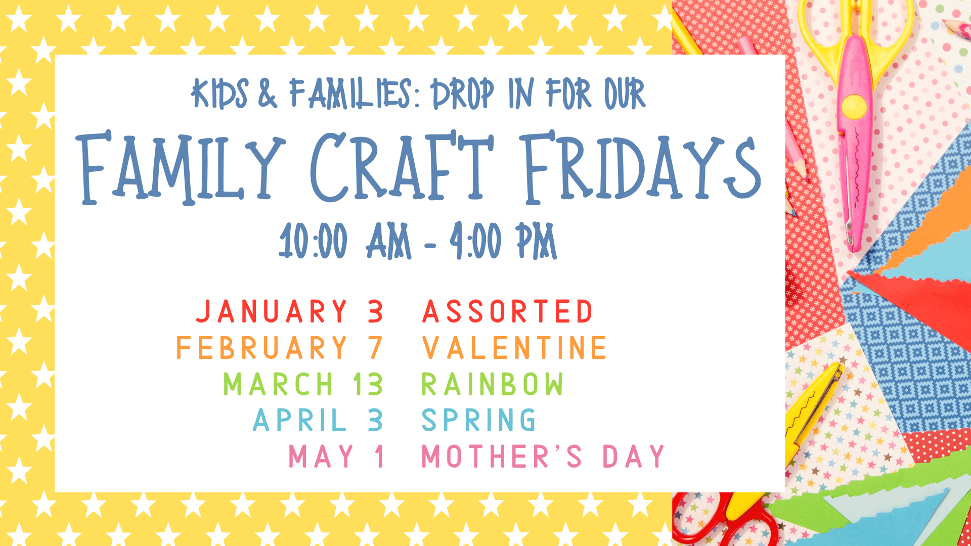 Family Craft Fridays @ Youth Services Department