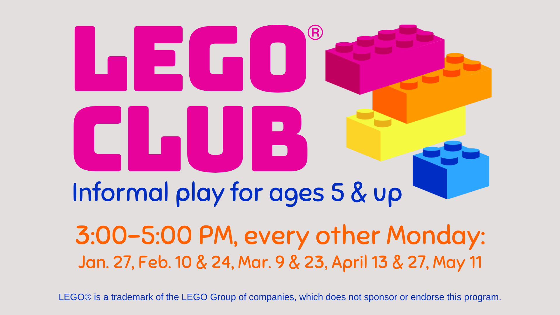 LEGO Club @ Lynchburg Public Library