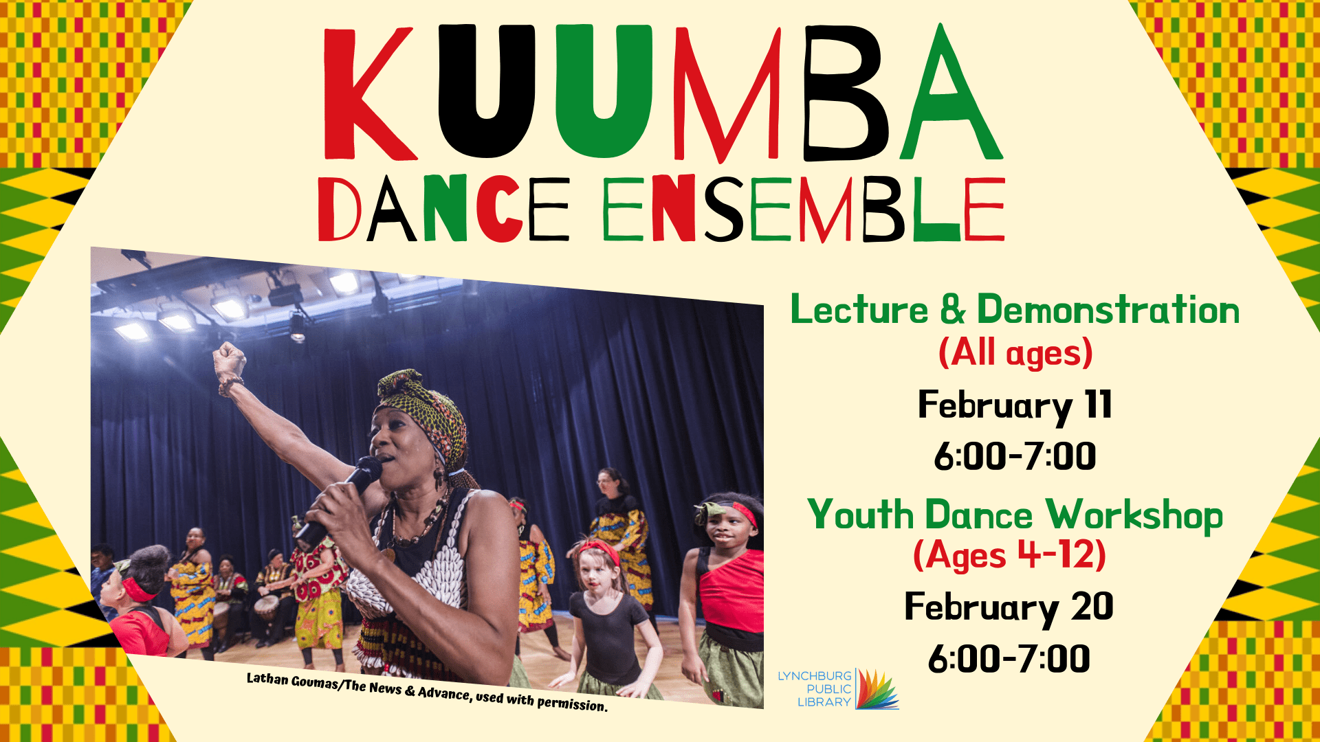 Kuumba Dance Ensemble-Children's Workshop @ Community Meeting Room