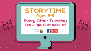Storytime - Ages 2-5 (FB Live)