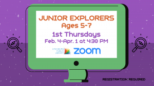 Junior Explorers - Ages 5-7 (Zoom)
