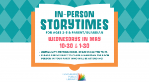 In-Person Storytime @ Lynchburg Public Library