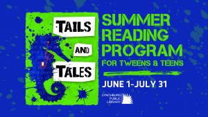 A promotion for the Summer Reading 2021 tween and teens program. The program runs from June first to July thirty-first