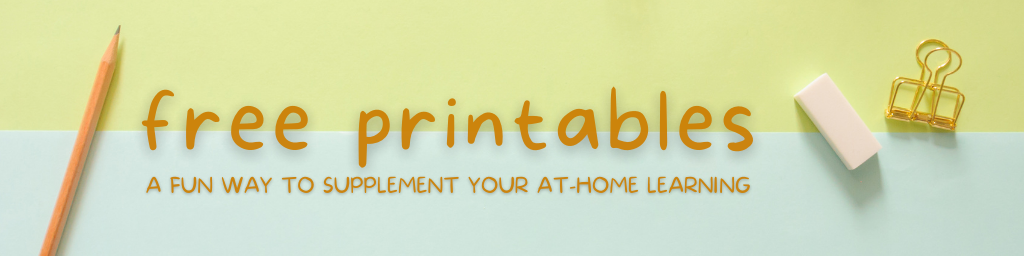 """Image features a yellow background with scattered paperclips, and the words """"free printables."""""""